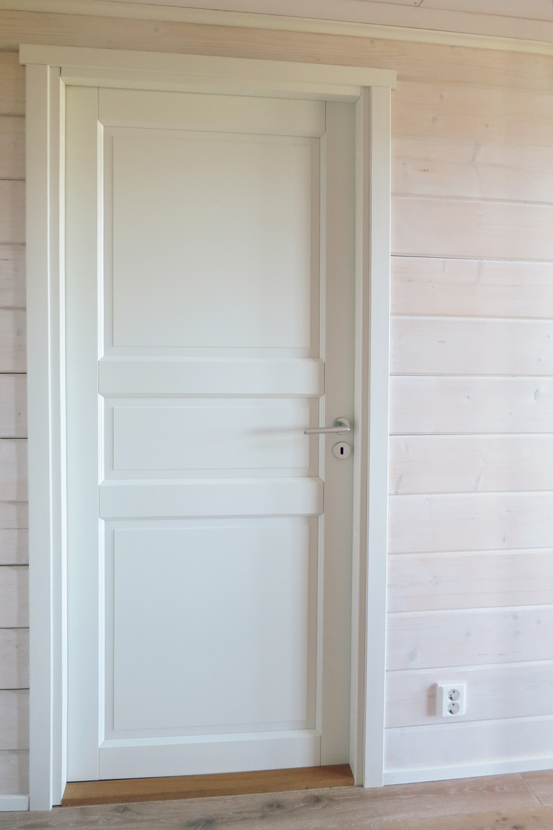 Interior door in a log house