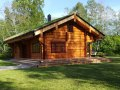Swedish log cabin grass roof