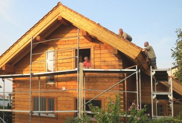 How to build a log cabin in Germany
