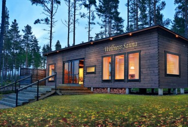 Construction of Finnish wellness saunas